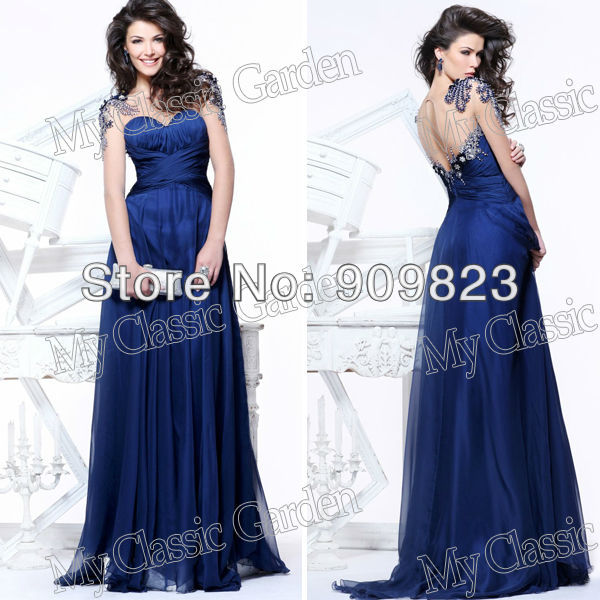 Aliexpress.com : buy 2013 elegant sweetheart beaded shoulders natural waist ruffes a line chiffon long sleeves formal evening gowns dresses 2013 from reliable dresses casual suppliers on my classic garden