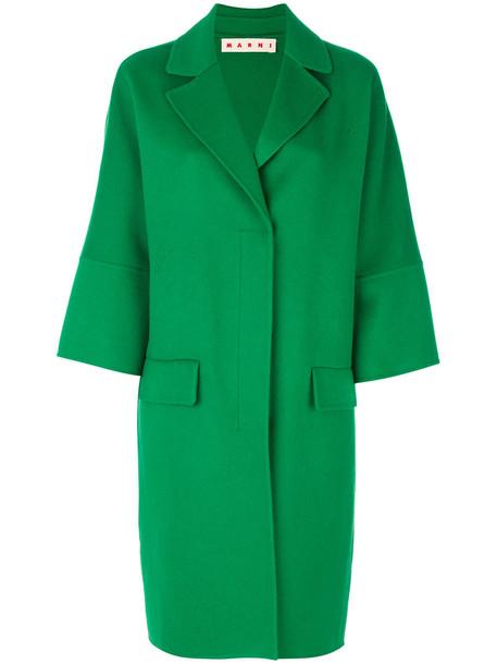 MARNI coat women wool green
