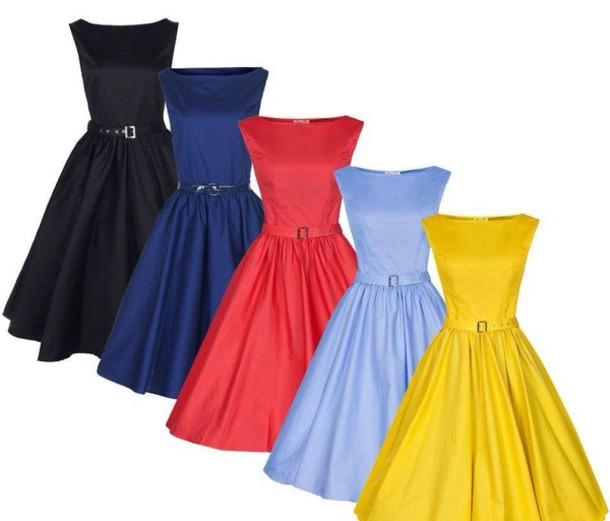 Retro Purple Dress Dress Blue Dress Purple