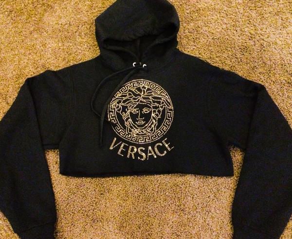 Medusa crop hoodie