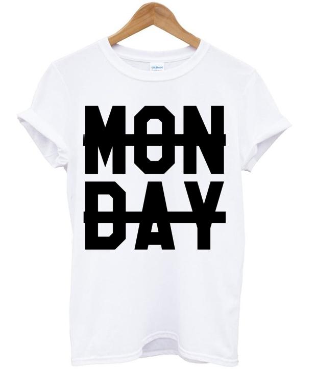 Monday Sucks Crossed Out T-shirt - mycovercase.com
