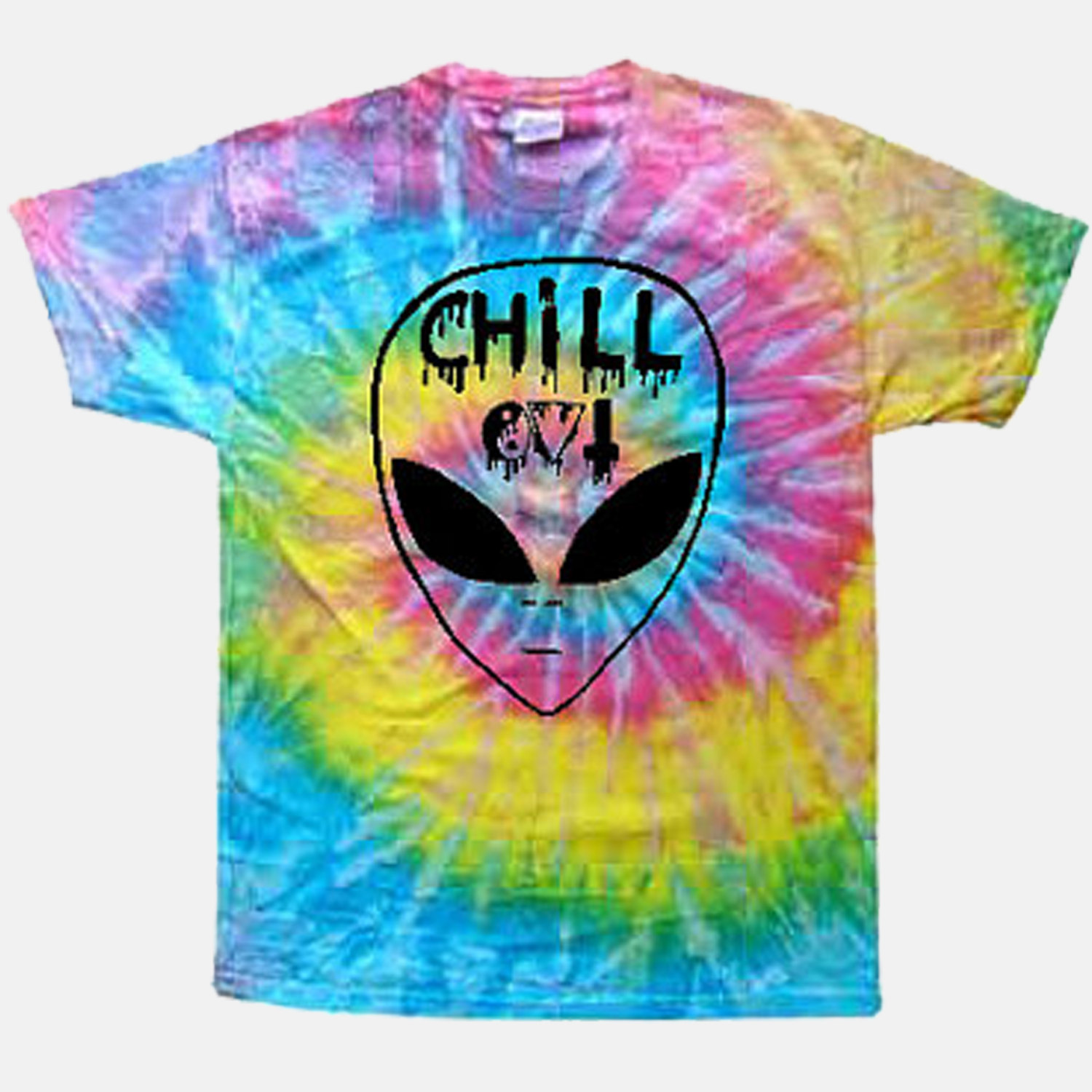 Chill out alien tie dye tee // alienattire
