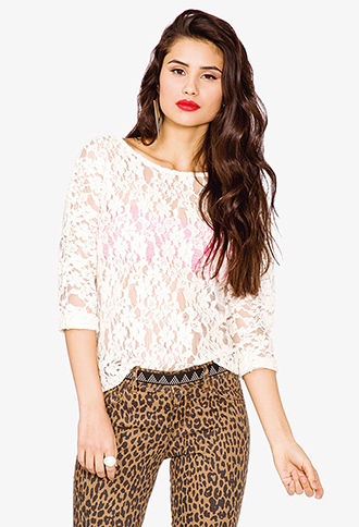 Floral Lace Top   FOREVER 21 - 2030186116