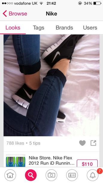 8a0b9f545024 shoes nike nike running black nike trainers black and white dance running  sportswear style instagram nike