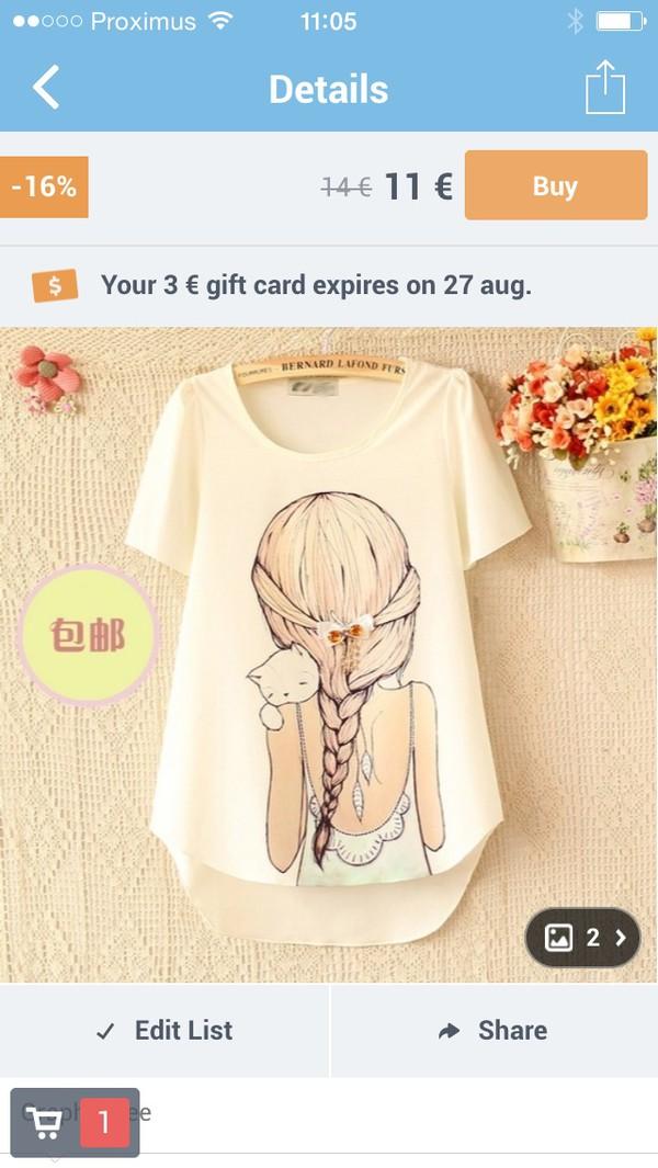 shirt girl with cat shirt