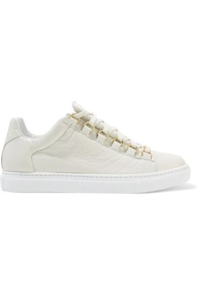 Balenciaga sneakers leather white shoes