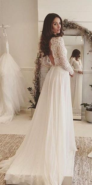 dress v back wedding dress