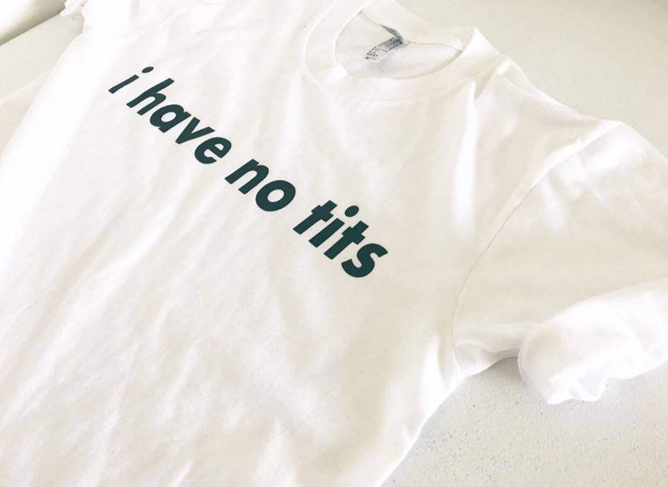 I Have No Tits Itty Bitty Titty Committee Grunge Style Small Breast Boob Shirt Nipple Unisex