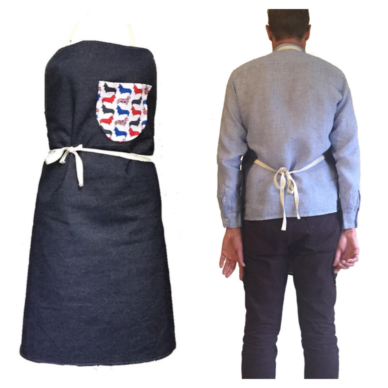 DENIM APRON, mens Apron, Denim apron, Denim Apron With Pocket, Canvas Apron, man apron, Grilling Apron, Rustic Apron, Bbq Apron