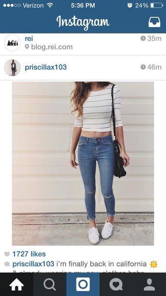 top stripes crop tops white