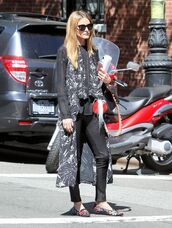 jacket,vest,olivia palermo,pants,sunglasses,flats,blogger,top,spring outfits