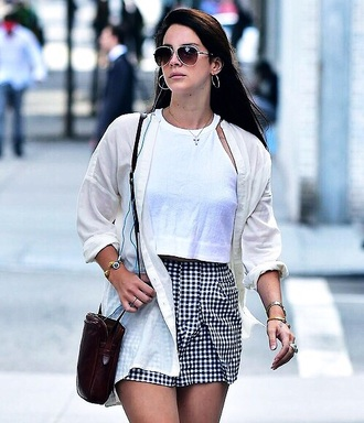 black and white lana del rey checkered