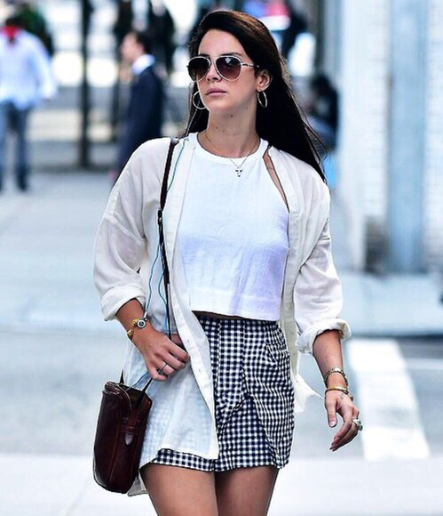 lana del rey black and white checkered