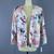 Vintage 1980s Linen Oversized Blazer Jacket / Palm Leaf Novelty Print
