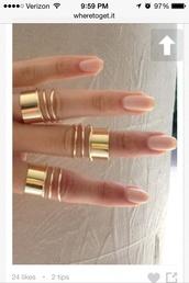 jewels,midi cuff rings,nail accessories,gold,ring