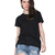 Black Short Sleeve Back Hollow Wing T-Shirt - Sheinside.com