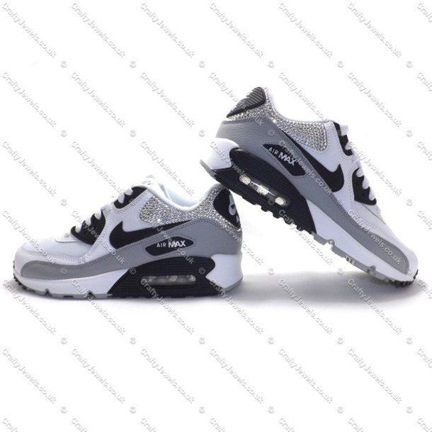 shoes swarovski nike crystal nike air girl girly swag nike air max 90 534cd1bcb8