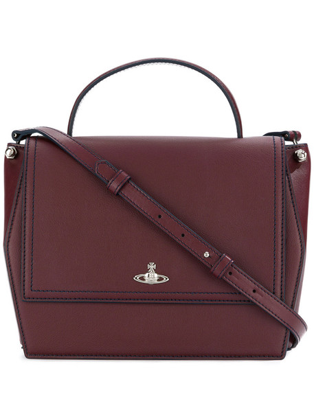satchel women classic leather red bag
