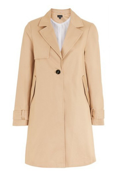 Topshop coat trench coat girly camel