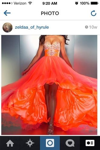 dress orange dress sherri hill prom dress