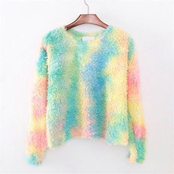tie dye colorful knitwear