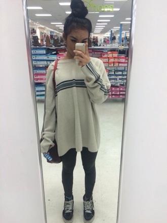 sweater cute style white sweater