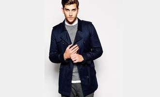 coat navy mens coat mens trench coat