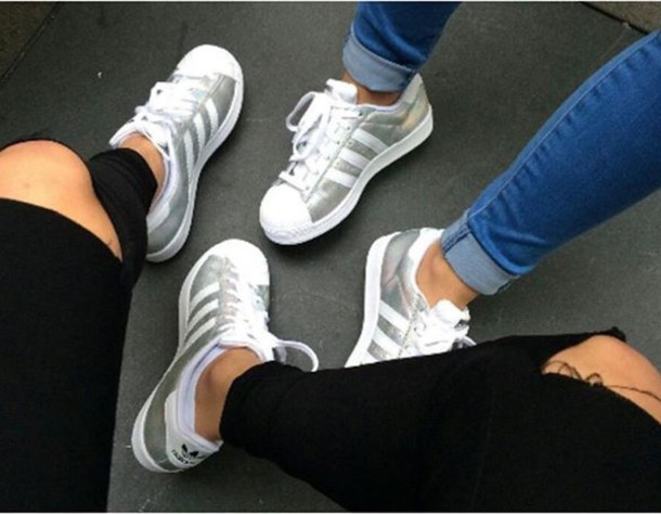 adidas Originals SUPERSTAR Trainers silver metallicwhite Zalando.co.uk
