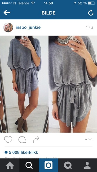 dress grey grey dress girl girly fashion vibe