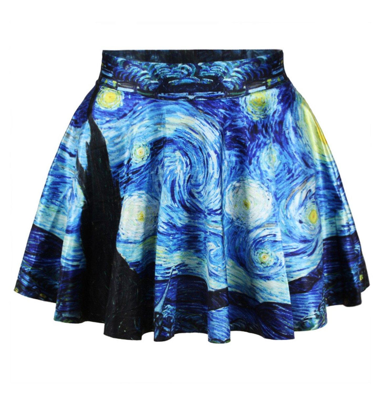 Skater Skirt Outfits Night Out Skater Skirt Starry Night