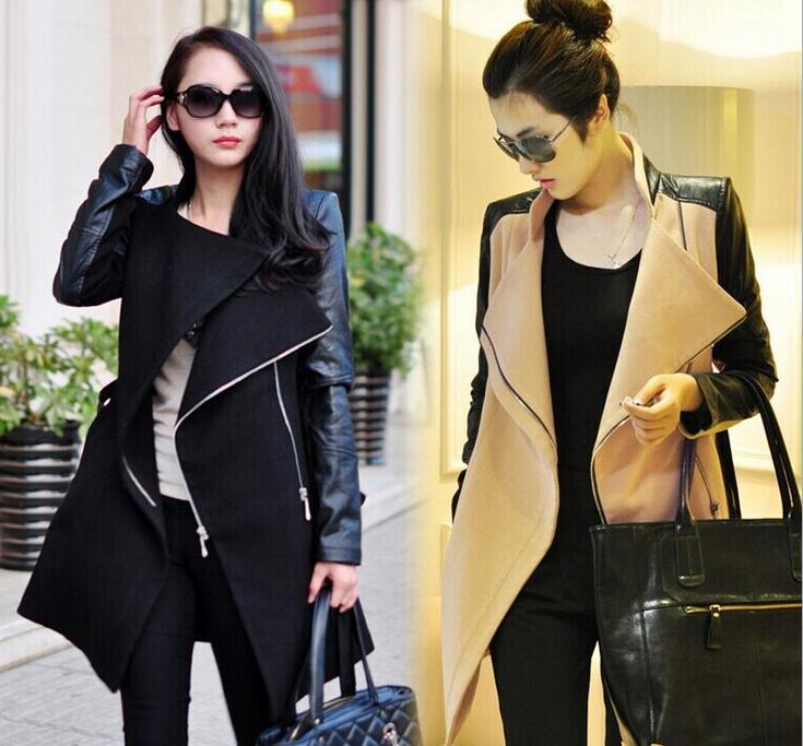 Fashion coat sleeve cloth coat dust coat women's clothing