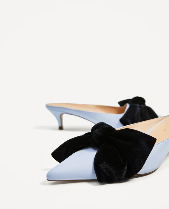 HEELED MULES WITH BOW - View all-SHOES-WOMAN