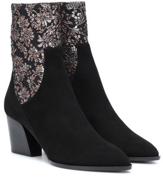Pierre Hardy Rodeo suede ankle boots in black