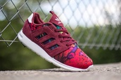shoes,adidas zx 500 2.0,adidas,zx 500,2.0,flowers,france,sneakers,high top sneakers,zx flux,floral,burgundy