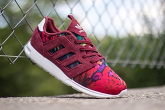 shoes adidas zx 500 2.0 adidas zx 500 2.0 flowers france sneakers high top sneakers zx flux floral burgundy