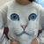 Amazon.com: Cat Face Sweatshirt: Clothing