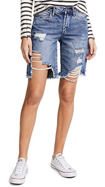 Blank Denim shorts distressed shorts