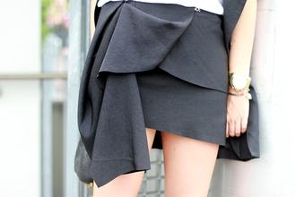 andy style scrapbook asymmetrical black skirt