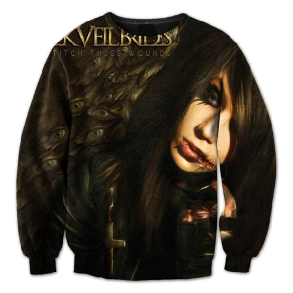 sweater black veil brides crewneck we stitch these wounds