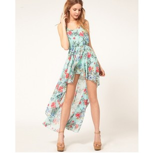 Flowers Printed Dress - Juicy Wardrobe