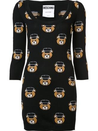dress mini dress mini bear women black wool
