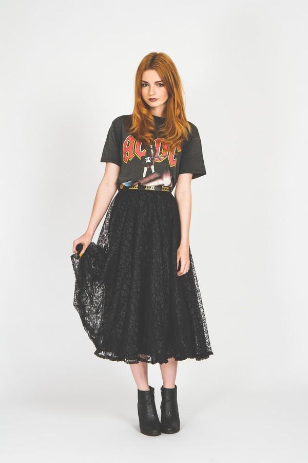t-shirt t-shirt skirt lace