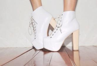 shoes white jeffrey campbell lita heels high heels