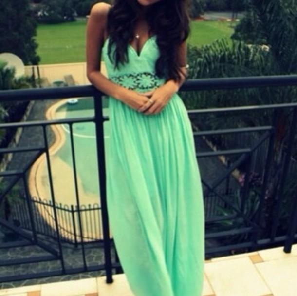 dress prom dress cute dress green dress