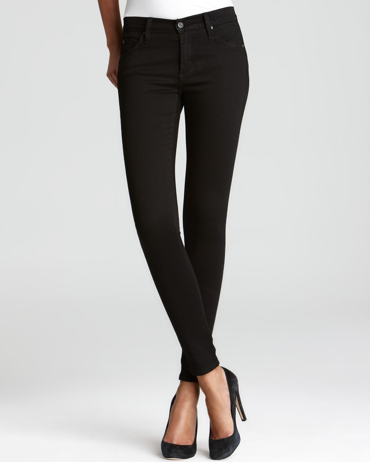 James Jeans Legging Jeans - Twiggy in Black | Bloomingdale's