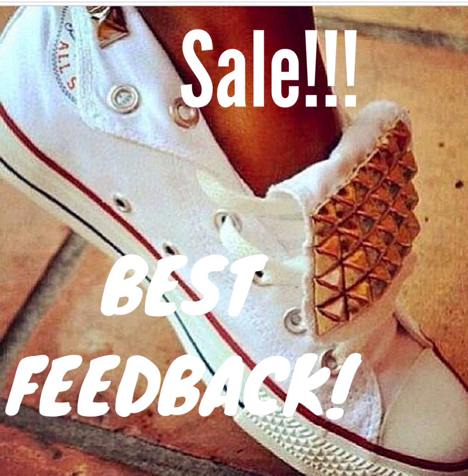 Weekend sale converse shoes studded converse