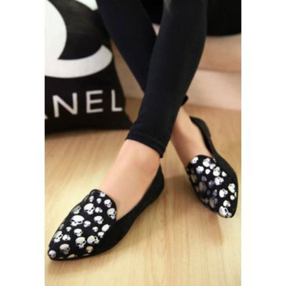 skull shoes loafers shoe