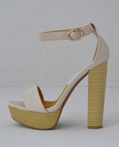 Trendy Clothing, Fashion Shoes, Women Accessories | Qupid Enclose 56 Coral High Heel Platform Sandals  | LoveShoppingMiami.com