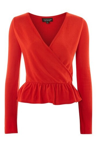 top wrap top red