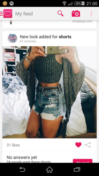 top shorts cardigan pants